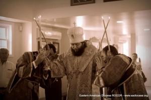 Престольный праздник Тихвинского храма Преосвященнейший епископ Манхеттенский Николай