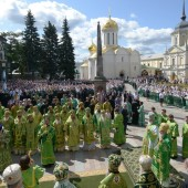 Празднование обретения честных мощей Преподобного Сергия игумена Радонежского в Троице-Сергиевой Лавре