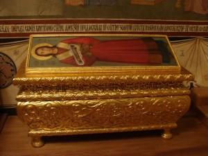 Честная десница первомученика Стефана в Серапионовой палате Троице-Сергиевой Лавры