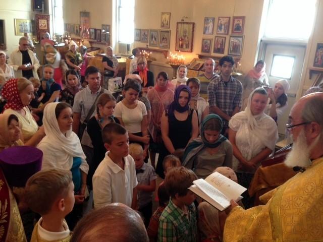Молебен для учащихся перед началом учебного года, 7.09.2014
