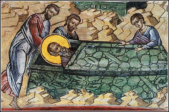 Погребение апостола Иоанна Богослова