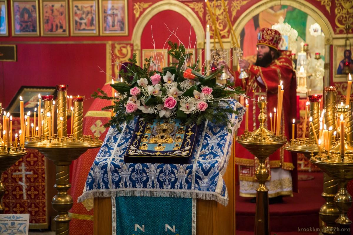 Епископ Манхеттенский Николай возглавил архирейскую Божественную литургию, 28.12.2014