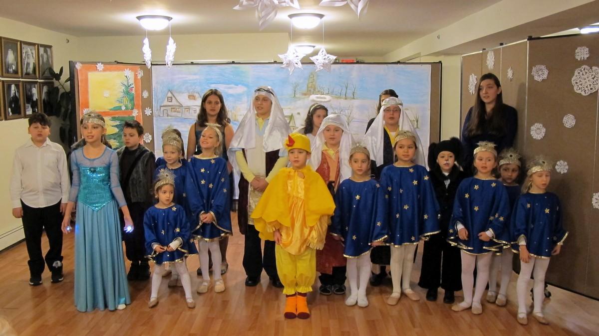 Рождественнский утренник в приходской школе, 10.01.2015