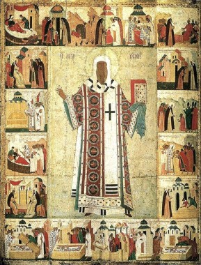 Святитель Алексий с житием, автор - Дионисий 1480-е годы