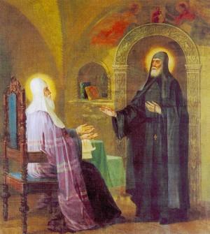 Святитель Алексий, митрополит Московский, и преподобный Сергий Радонежский