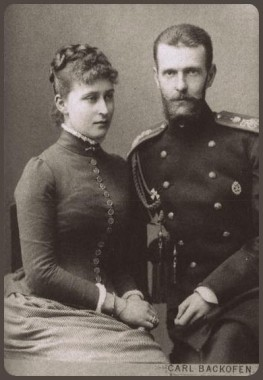 Великий князь Сергей Александрович с женой Елизаветой Федоровной, 1896 год
