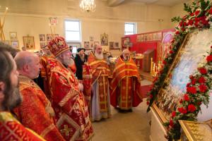 Епископ Иероним возглавил престольный праздник в нашем храме, 8.02.2015