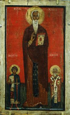 Иоанн Лествичник, Георгий и Власий. Конец XIII в