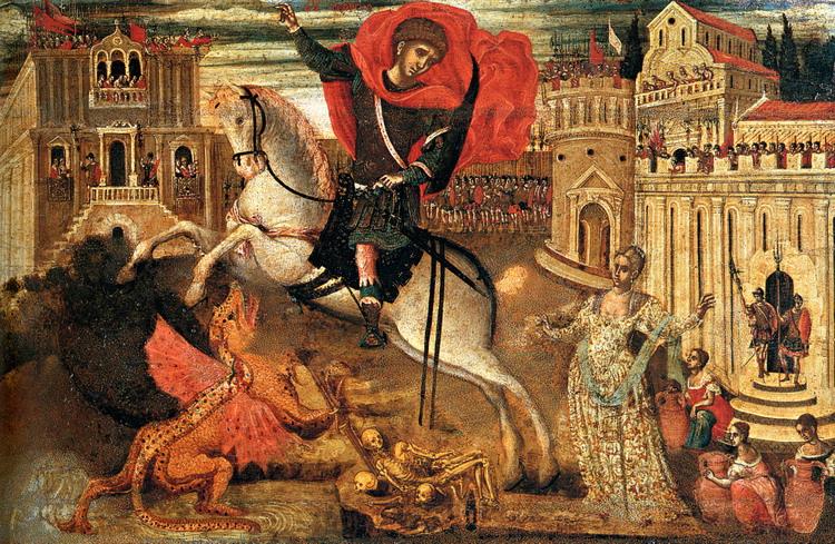 Святой Георгий убивает змия