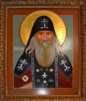 Икона с частицей мощей преподобного Амфилохия Почаевского