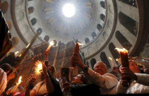 Схождение благодатного огня, Храм Воскресения Христова. Иерусалим, 2016