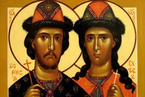 Святые Борис и Глеб, в Крещении Роман и Давид