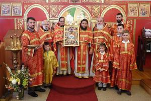 16 июня 2015 г. Бруклин, Нью-Йорк: Храм свв. Новомучеников получил в дар икону своих Небесных покровителей