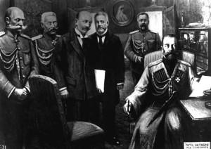 Вынужденное отречение императора Николая II от престола