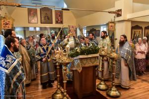Праздничное Богослужение в Тихвинском храме