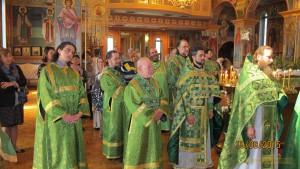 Богослужение в Свято-Александро-Невском соборе (Лейквуд, Нью-Джерси)