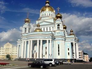 Cаранск. Кафедральный собор, соборная площадь