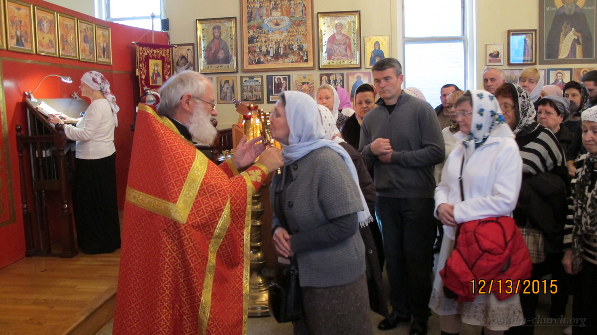 Богослужение в день памяти святого апостола Андрея Первозванного, 13 декабря 2015 г.