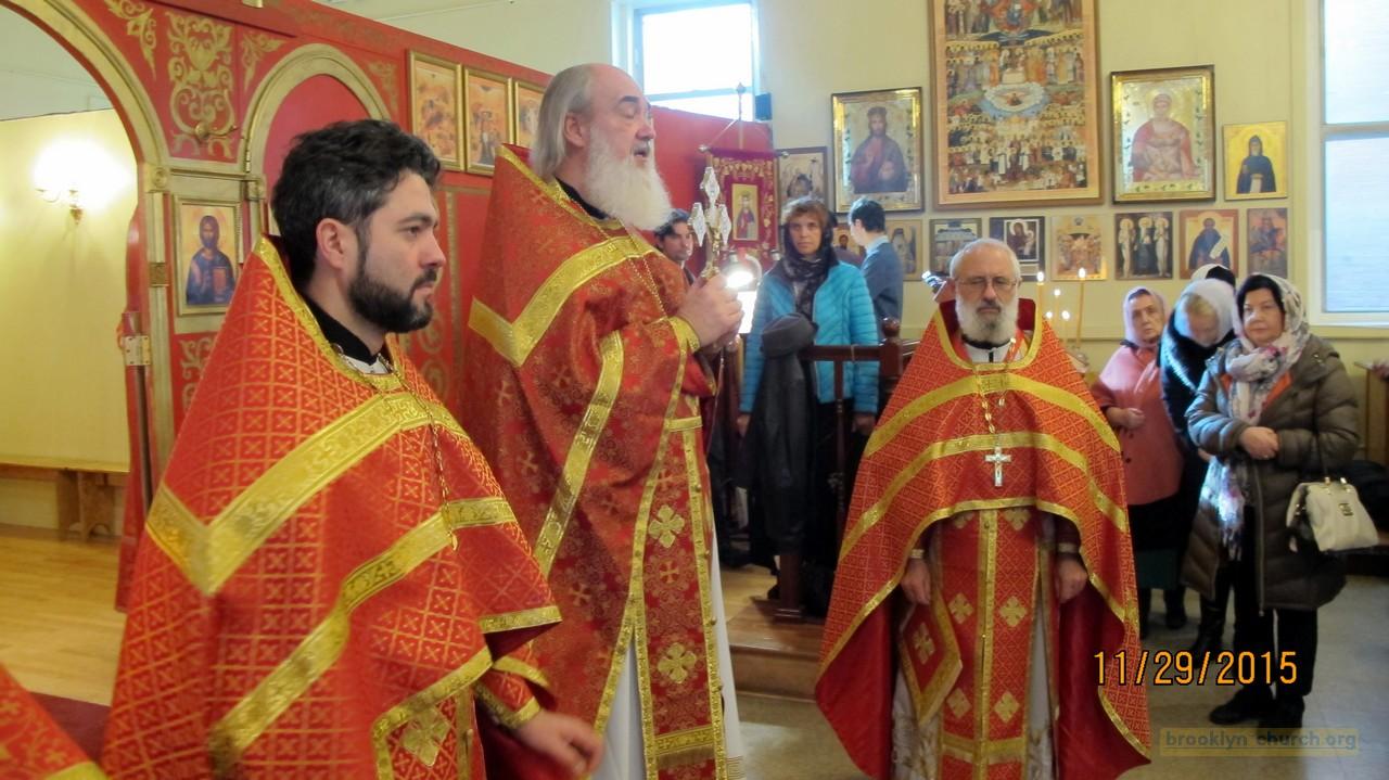 Богослужение в день памяти святого апостола и евангелиста Матфея, 29-11-2015