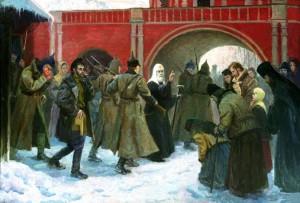 Арест Патриарха Тихона Худ. Филипп Москвитин