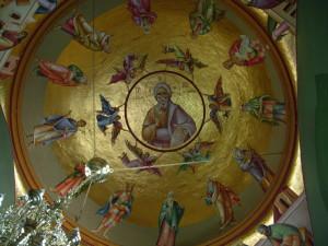 Христос в своде над трапезной в храме 12-ти Апостолов в Капернауме