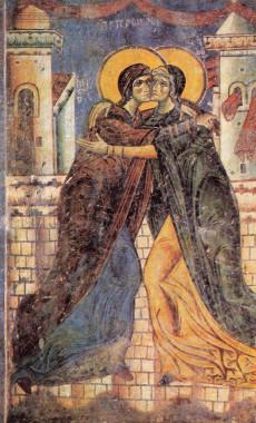 Встреча Марии и Елизаветы, Посещение Марии