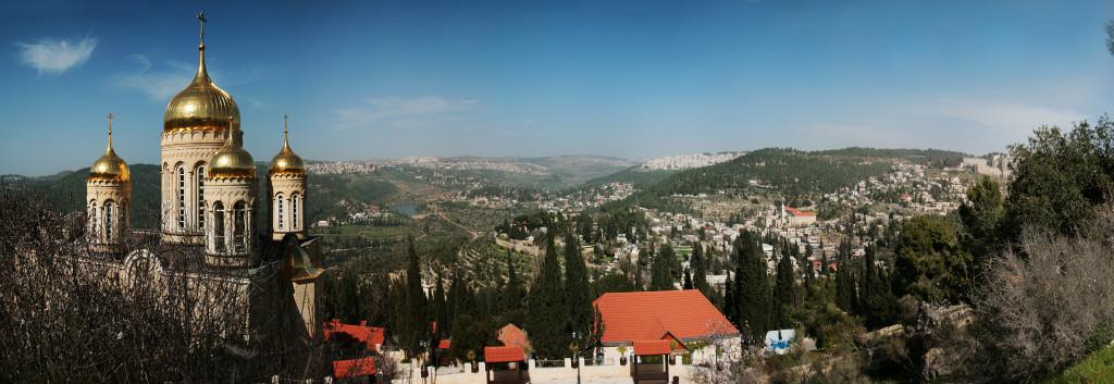 Вид на Иерусалим со стороны Горненского женского монастыря