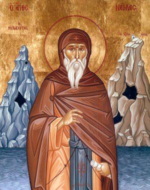 Преподобный Нил Мироточивый, Афонский
