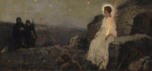 Жены-мироносицы и ангел при гробе Господнем