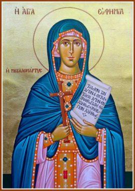 Великомученица Евфимия Всехвальная, Халкидонская