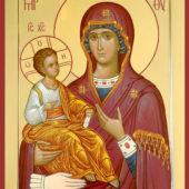 Икона Богородицы «Троеручица»