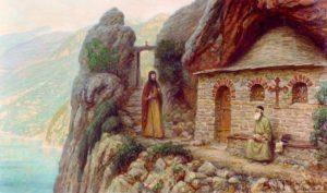 Преподобный Антоний Печерский на Афоне