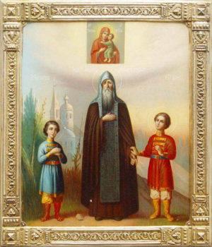 Святой благоверный князь Феодор Смоленский и Ярославский с сыновьями