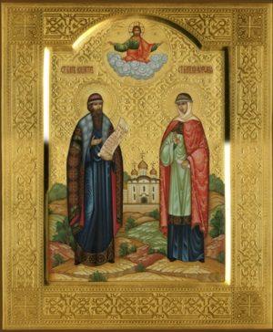 Благоверные князья Петр (в иночестве Давид) и Феврония (в иночестве Евфросиния) Муромские