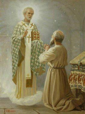 Явление священнослужителю с просьбой о перенесении мощей в Бар-град