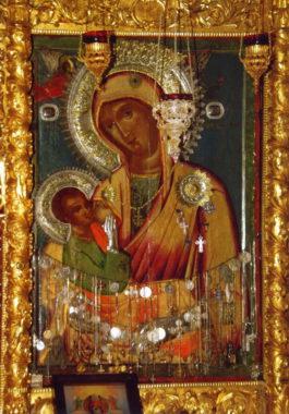 Икона Богородицы Млекопитательница. Хилендарский монастырь, Афон