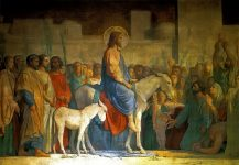 Вход Господень в Иерусалим. Худ. Ипполит Фландрин, 1842