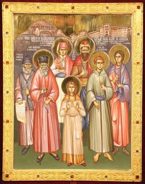 Икона святых Новомучеников и Исповедников Христовых Эллады, Кипра, Малой Азии и Понта