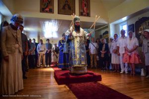 Епископ Николай возглавил престольный праздник Тихвинского храма