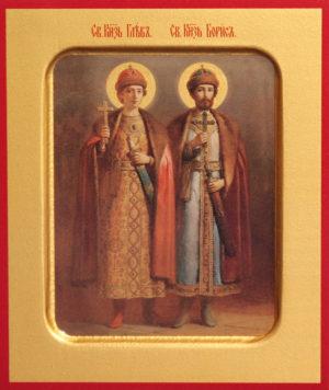 Благоверные князья Борис (во Святом Крещении Роман) и Глеб (во Святом Крещении Давид)