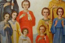 Семь святых мучеников Маккавеев: Авим, Антонин, Гурий, Елеазар, Евсевон, Адим и Маркелл, мать их Соломония и учитель их Елеазар