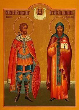 Благоверный князь Александр (в схиме Алексий) Невский и его 4-й сын - Благоверный князь Даниил Московский