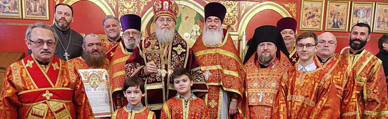 Митрополит Иларион возглавил престольный праздник нашего храма, 02/04/2018
