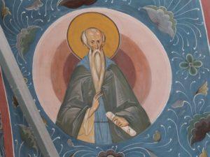 Преподобный Мефодий Пешношский. Роспись свода Братской трапезной Троице-Сергиевой Лавры