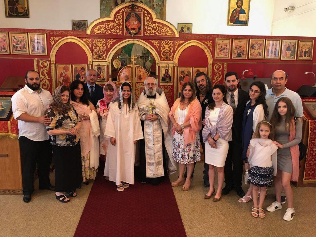Таинства Крещения и Миропомазания приняла р.Б. Анастасия