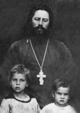 Священномученик Михаил Пятаев с детьми