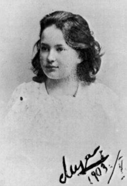 В 1910 году 19-летняя Лиза выходит замуж