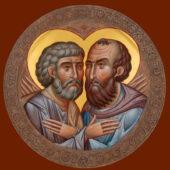 Икона славных и всехвальных первоверховных апостолов Петра и Павла (☦67)
